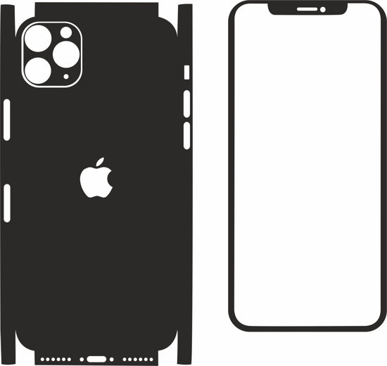 Picture of iphone 11 pro Skin Template