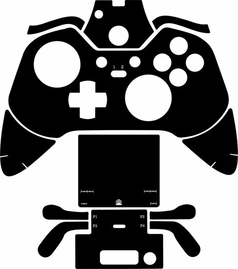 Picture of Xbox One Elite Controller Skin Template