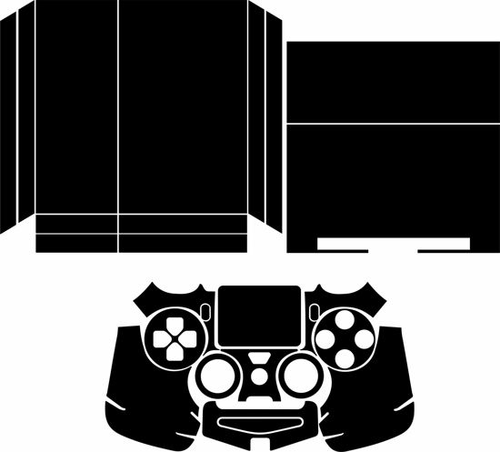 Picture of PS4 Console & Controller Skin Template
