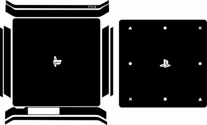 Picture of PS4 Slim Console & Controller Skin Template