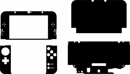 Picture of Nintendo 3DS XL Skin Template