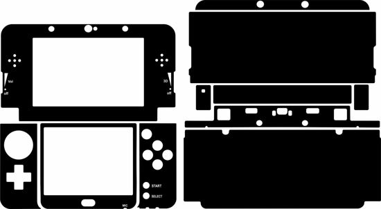 Picture of Nintendo 3DS Skin Template