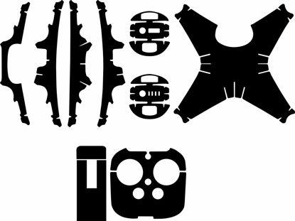 Picture of DJI Phantom 4 Drone Skin Template