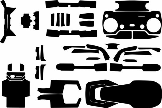 Picture of DJI Mavic Air 1 Drone Skin Template