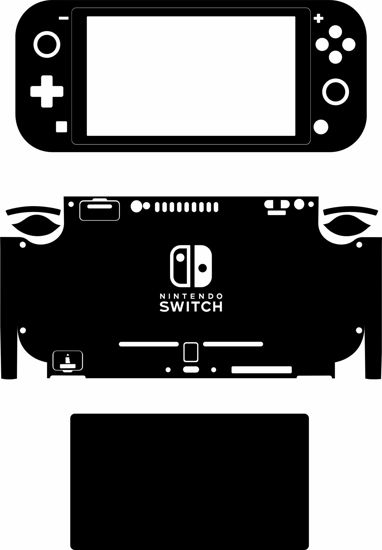 Picture of Nintendo Switch Lite Skin Template (Includes Screen)