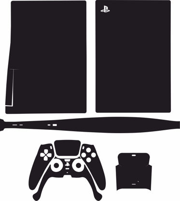 Picture of PS5 Console & Controller Skin Template