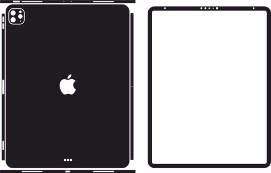 Picture of ipad Pro 4th Gen 12.9 Inch 2020 Skin Template