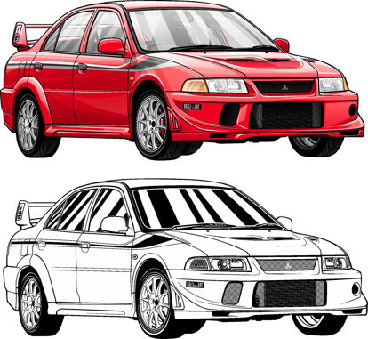 Picture of Mitsubishi Evolution 6 Tommie Makinen Edition